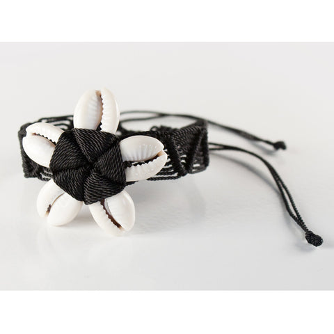 Beach Floret Black Handmade Bracelet Fair Trade