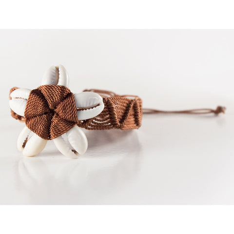Beach Floret Brown 3 Handmade Bracelet Fair Trade