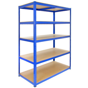 Racking T-Rax Strong Storage Shelves, Blue, 120cm W, 60cm D
