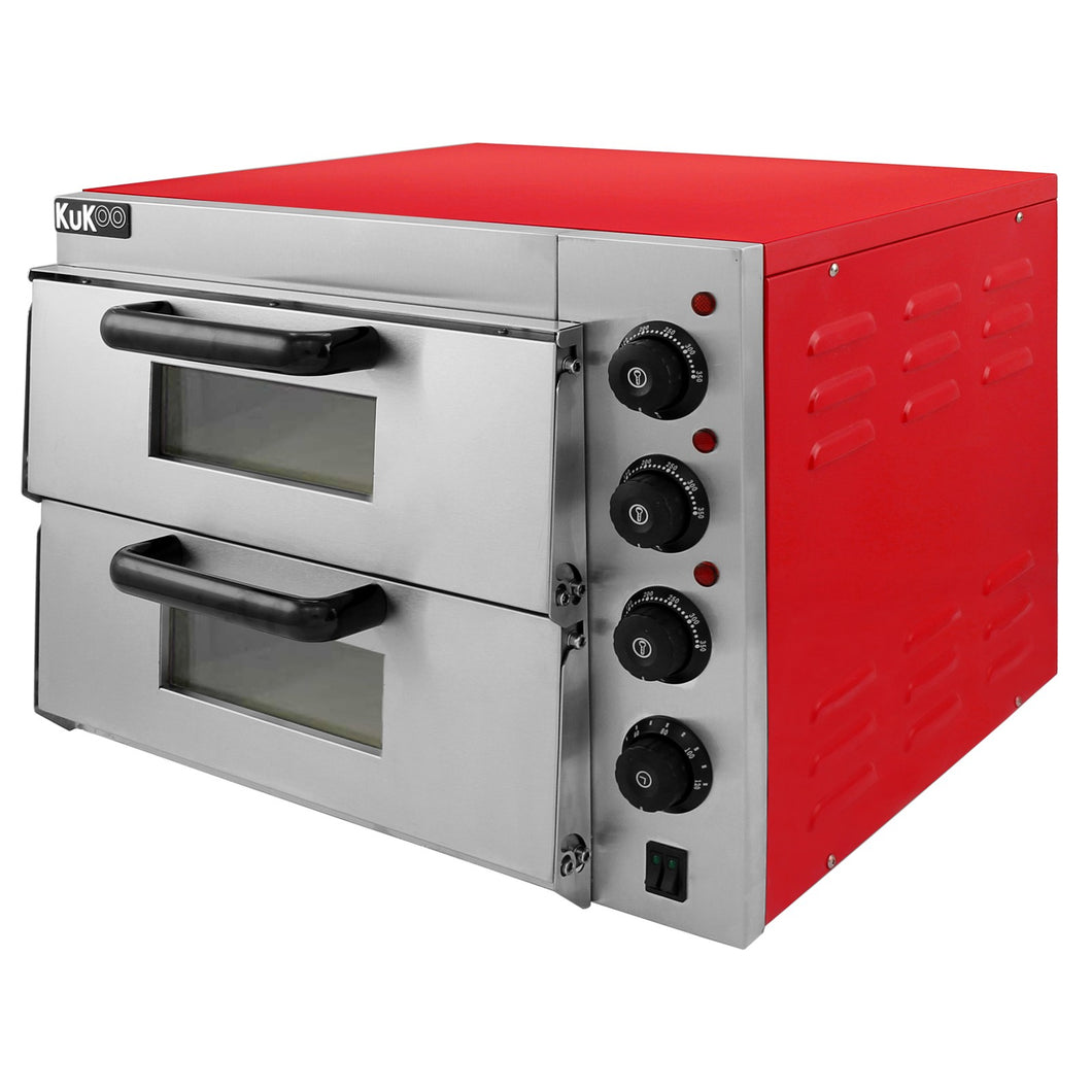 Twin Deck Electric Pizza Oven 16