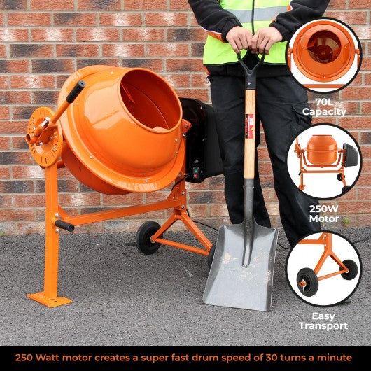 Electric Cement Mixer, 70 Litre