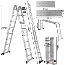 Load image into Gallery viewer, Aluminium Folding Ladder Step Ladder