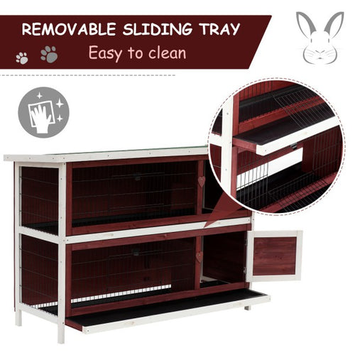 Pawhut Two-Tier Rabbit Hutch