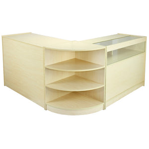 Maple Shop Counter & Retail Display Set