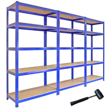 Load image into Gallery viewer, Blue Metal Storage Shelves