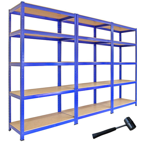 Blue Metal Storage Shelves