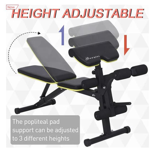 Multi-Functional Sit-Up Dumbbell Bench Adjustable Seat and Back Angle