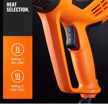 Load image into Gallery viewer, Adjustable Temp Heat Gun 2000W