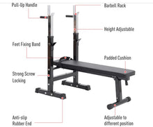 Load image into Gallery viewer, Adjustable Workout Bench Barbell