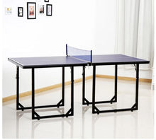 Load image into Gallery viewer, Folding Mini Table Tennis/Ping Pong Table Set-Black/Blue