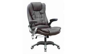 Leather 6 Point Massage Office Chair
