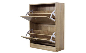 Shoe Cabinet Wood 2 Drawer