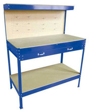 Load image into Gallery viewer, Steel Garage Workbench With Drawers Pegboard