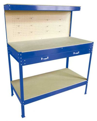 Steel Garage Workbench With Drawers Pegboard