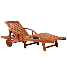 Load image into Gallery viewer, Sun Lounger Acacia Wood Extendable Drinks Tray