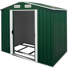 Load image into Gallery viewer, Garden Shed Green Metal 8.4x6.7x5.8ft