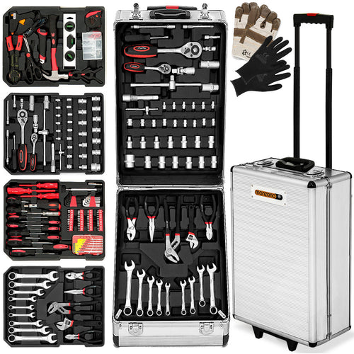 Tool Box Trolley with Tools 899 Pcs