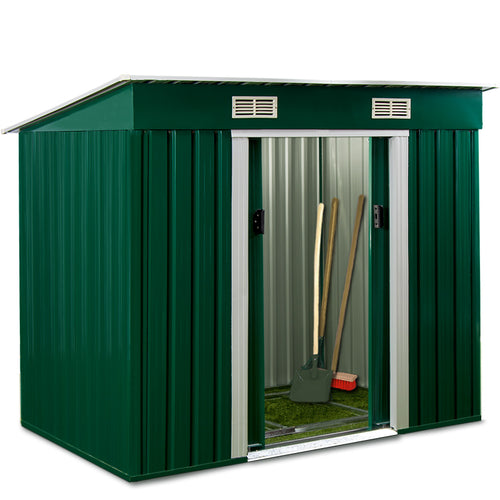 Garden Shed Green Metal 6x4x6ft