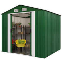 Load image into Gallery viewer, Metal Garden Shed 8,38 m³ - Green