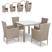 Load image into Gallery viewer, Poly Rattan Dining 9 Pcs Set