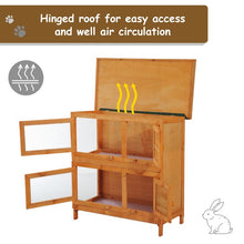 Load image into Gallery viewer, 90cm 2 Tiers Rabbit Hutch