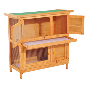 90cm 2 Tiers Rabbit Hutch