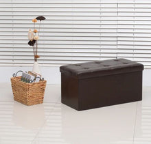 Load image into Gallery viewer, Folding Storage Ottoman