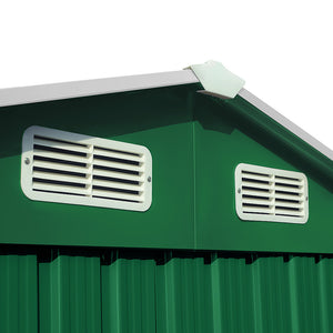 Garden Shed Green Metal 10x8.5x6ft