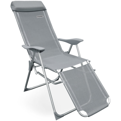 2x Aluminium High Chair Recliner