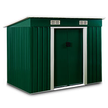 Load image into Gallery viewer, Garden Shed Green Metal 6x4x6ft