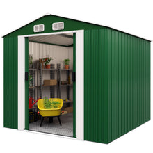 Load image into Gallery viewer, Garden Metal Tool Shed 14.65m³ - Green