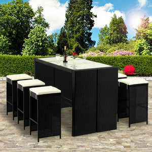 Rattan Bar Set 13 Pieces