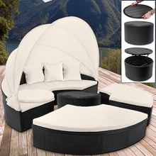 Load image into Gallery viewer, Poly Rattan Sun Day Bed