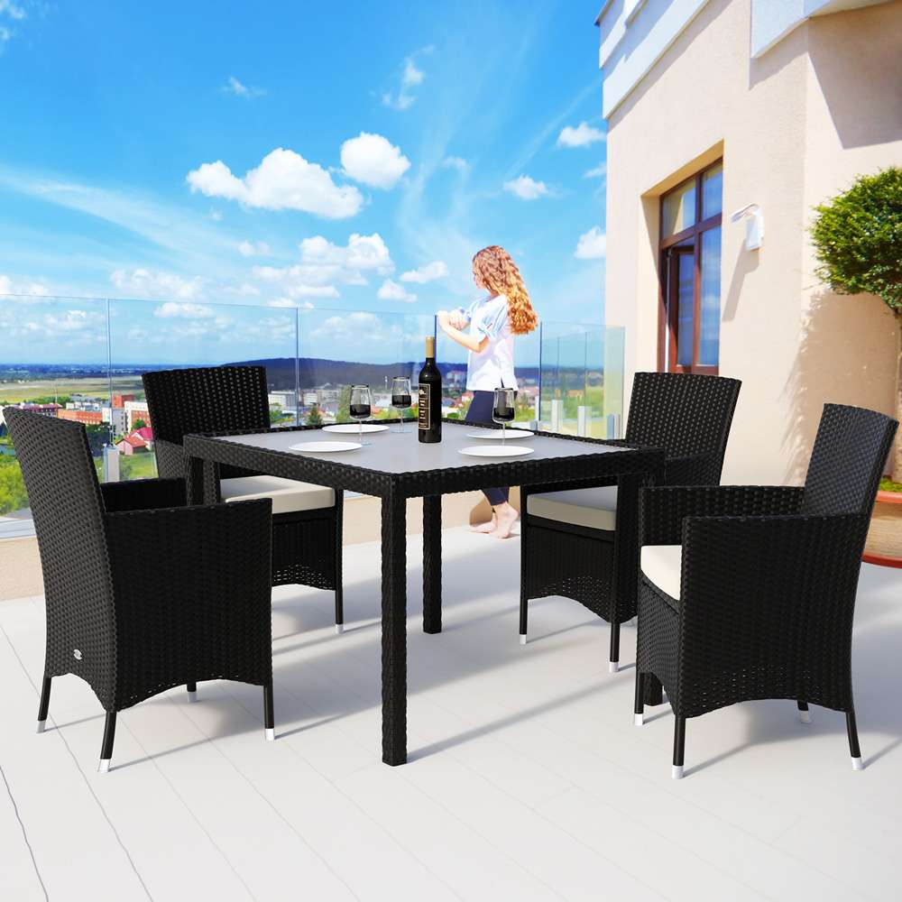 Poly Rattan Dining 9 Pcs Set