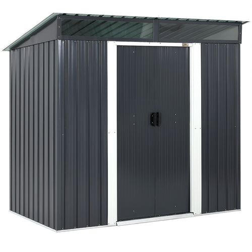 Garden Shed Anthracite Metal 6.4x4x6