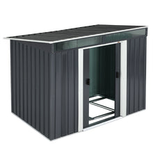 Load image into Gallery viewer, Garden Shed Anthracite Metal 6.4x4x6
