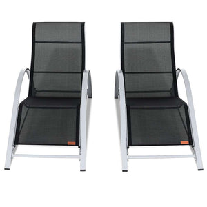 Sun Lounger Set Siena - 2x Loungers & Table