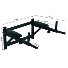 Load image into Gallery viewer, Wall Mounted Dip Station Rack-Black