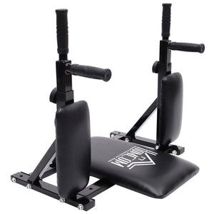 Wall Mounted Dip Station Rack-Black