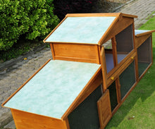 Load image into Gallery viewer, Wooden Rabbit Hutch House, 215x63x100 cm