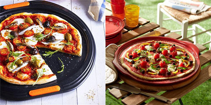 bases para hornear pizza le creuset y emile henry