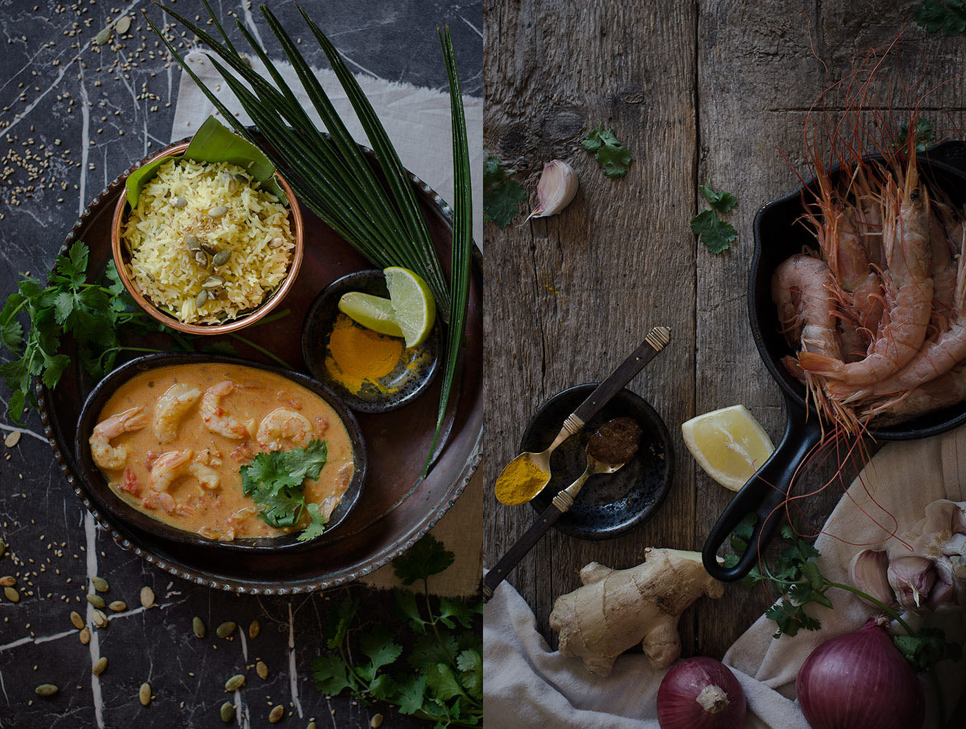 receta de curry de gambas