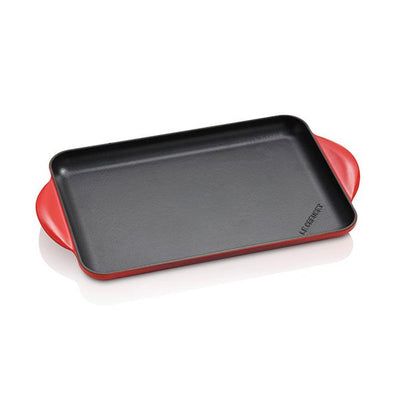 Parrilla lisa rectangular Tradition Le Creuset 32,5 x 22 cm Rojo - Claudia&Julia