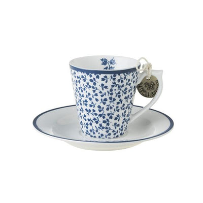 Taza espresso y plato de porcelana Laura Ashley Floris - Claudia&Julia