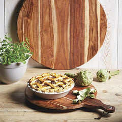 Tabla redonda de madera de acacia MasterClass de Kitchen Craft
