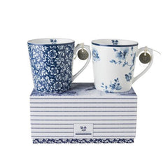 Set de dos tazas de porcelana tipo mug 32cl Laura Ashley