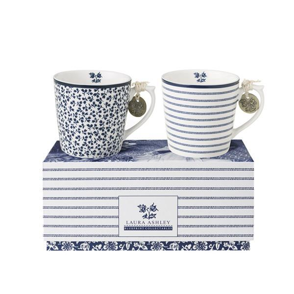 Set de dos tazas de porcelana 220ml Laura Ashley - Claudia&Julia
