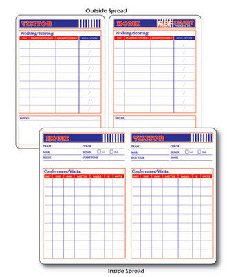 Accessories:  RefSmart Baseball & Softball Umpire's Game Card (BB-RSGC)