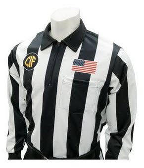 "Shirts:  Smitty California CIF Logo 2 ¼""-Striped Dye-Sublimated Long Sleve Football Shirt (CA-214L)"