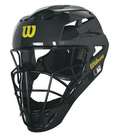 Face Mask:   Wilson MLB Pro Stock Steel Hockey Style Face Mask (FM-Shock)